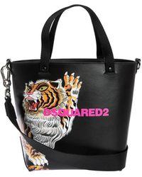 DSquared² Tiger Print Bucket Bag - Black