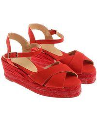 Castaner - Red Blaudell Wedge Sandals - Lyst