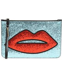 P.A.R.O.S.H. Red Mouth Clutch Bag