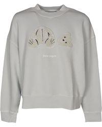 Palm Angels - Teddy Bear Sweatshirt - Lyst