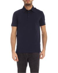 Ballantyne Cotton Piqué Polo Shirt - Blue