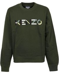 KENZO Logo Embroidery Jumper - Green