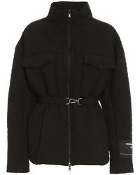 Patrizia Pepe Quilted Puffer Jacket - Black