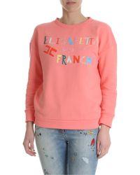 Elisabetta Franchi - Elisabetta Franchi Printed Sweatshirt In Pink - Lyst