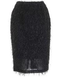be Blumarine Fil Coupé Pencil Skirt - Black