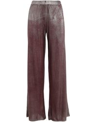 Avant Toi Laminated Palazzo Trousers - Red