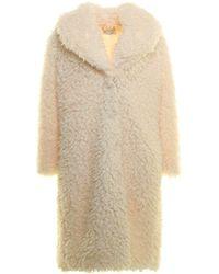 be Blumarine Faux Fur Coat - White
