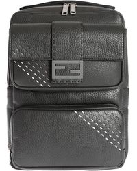 Fendi Stitching Backpack - Black