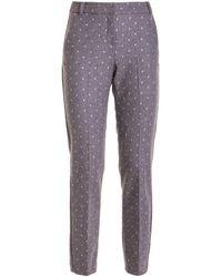 Ermanno Scervino Shimmering Polka Dots Trousers - Grey
