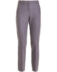 Ermanno Scervino Shimmering Polka Dots Pants - Grey