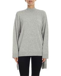 Karl Lagerfeld Melange Light Grey Pullover