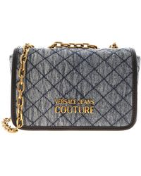 Versace Jeans Couture Logo Denim Shoulder Bag - Blue