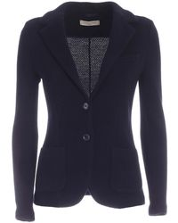 Circolo 1901 Knitted Fabric Single-breasted Jacket - Blue