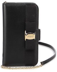 Ferragamo Leather Cover For Iphone 11 - Black