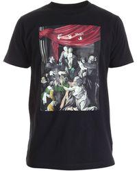 Off-White c/o Virgil Abloh Off-white caravaggio Print Over T-shirt Black