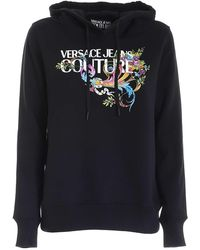 Versace Jeans Couture Logo Hoodie - Black