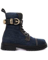 Versace Jeans Denim Ankle Boots - Blue