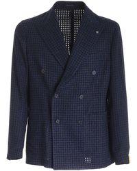 Tagliatore Darrel Double-breasted Jacket - Blue