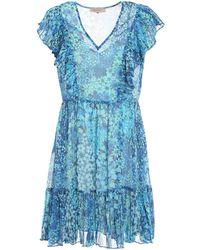 Twin Set Floral Creponne Dress - Blue