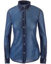 Burberry Semi-sheer Shirt - Blue