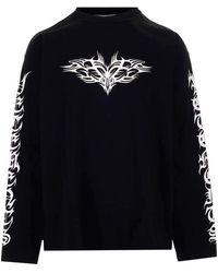 Vetements Long-sleeved T-shirt - Black