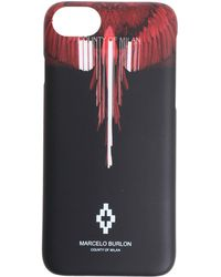 Marcelo Burlon - Black And Red Wings Barcode Iphone 8 Cover - Lyst