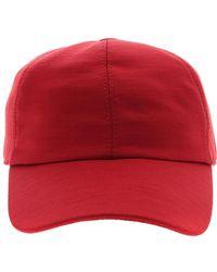 Z Zegna Techmerino Tm Hat In Red Wool