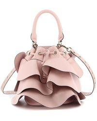 RED Valentino Rock Ruffles Xl Bucket Bag - Pink