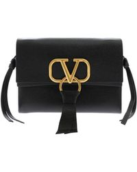 Valentino - Vring Bag In Black Leather - Lyst