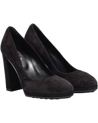 Tod's - Suede Court Shoes - Lyst