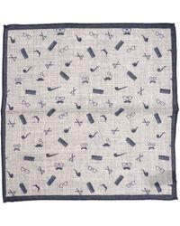 Altea - Grey And Blue Handkerchief - Lyst