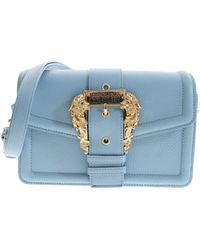 Versace Borsa Azzurra Con Fibbia Baroque - Blu