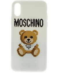 Moschino White Cover With Pixel Teddy Bear Print - Multicolor