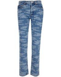 Vetements All Over Logo Jeans - Blue