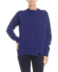 Zucca - Blue Pullover With Front Vent - Lyst