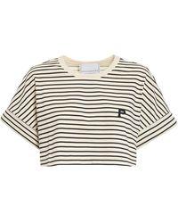 Philosophy Di Lorenzo Serafini Striped Cropped T-shirt - Multicolour