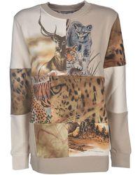 Stella McCartney Animal Print Sweatshirt - Natural