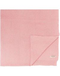 Twin Set Ribbed Scarf - Pink