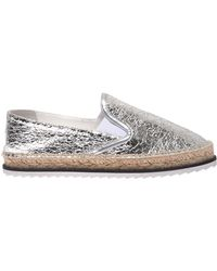 Kendall + Kylie - Envy Espadrilles In Silver - Lyst