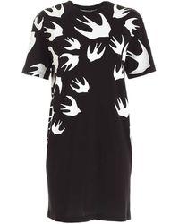 McQ Swallow T Shirt Dress - Black