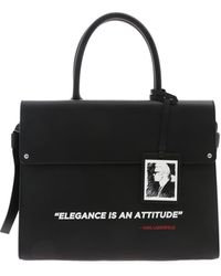Karl Lagerfeld Karl Legend Ikon Handbag - Black