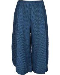 Pleats Please Issey Miyake Pantaloni Thicker Bottoms 1 Blu