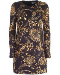 Versace Jeans Couture Regalia Baroque Print Dress - Black