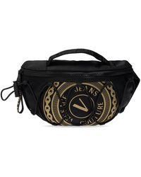 Versace - Logo Printed Belt Bag - Lyst