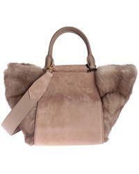 Max Mara - Lara S Handbag In Leather And Fur - Lyst