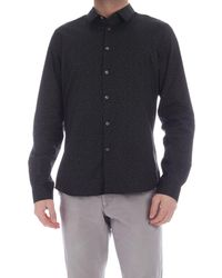 PS by Paul Smith Contrasting Print Shirt - Black
