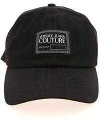 Versace Jeans Couture Logo Label Cap - Black
