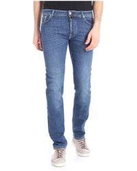 Jacob Cohen Blue Jeans With Grey Logo