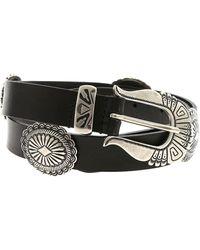 Alberta Ferretti Black Belt With Silver Metal Details