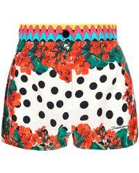 Dolce & Gabbana Silk Culotte Shorts - Multicolour